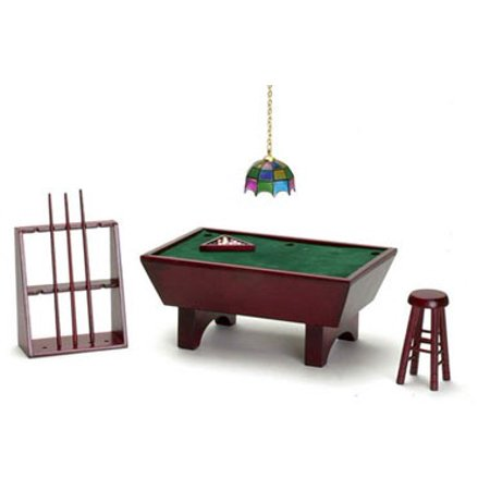 Dollhouse Pool - Dollhouse Pool Table Set 24/Mahogany/Cs