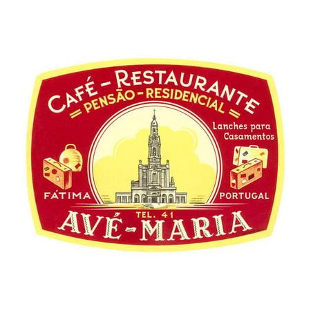 Cafe, Restaurant Ave Maria, Portugal Print Wall (No 1 Chinese Restaurant Washington Ave Brooklyn Ny)