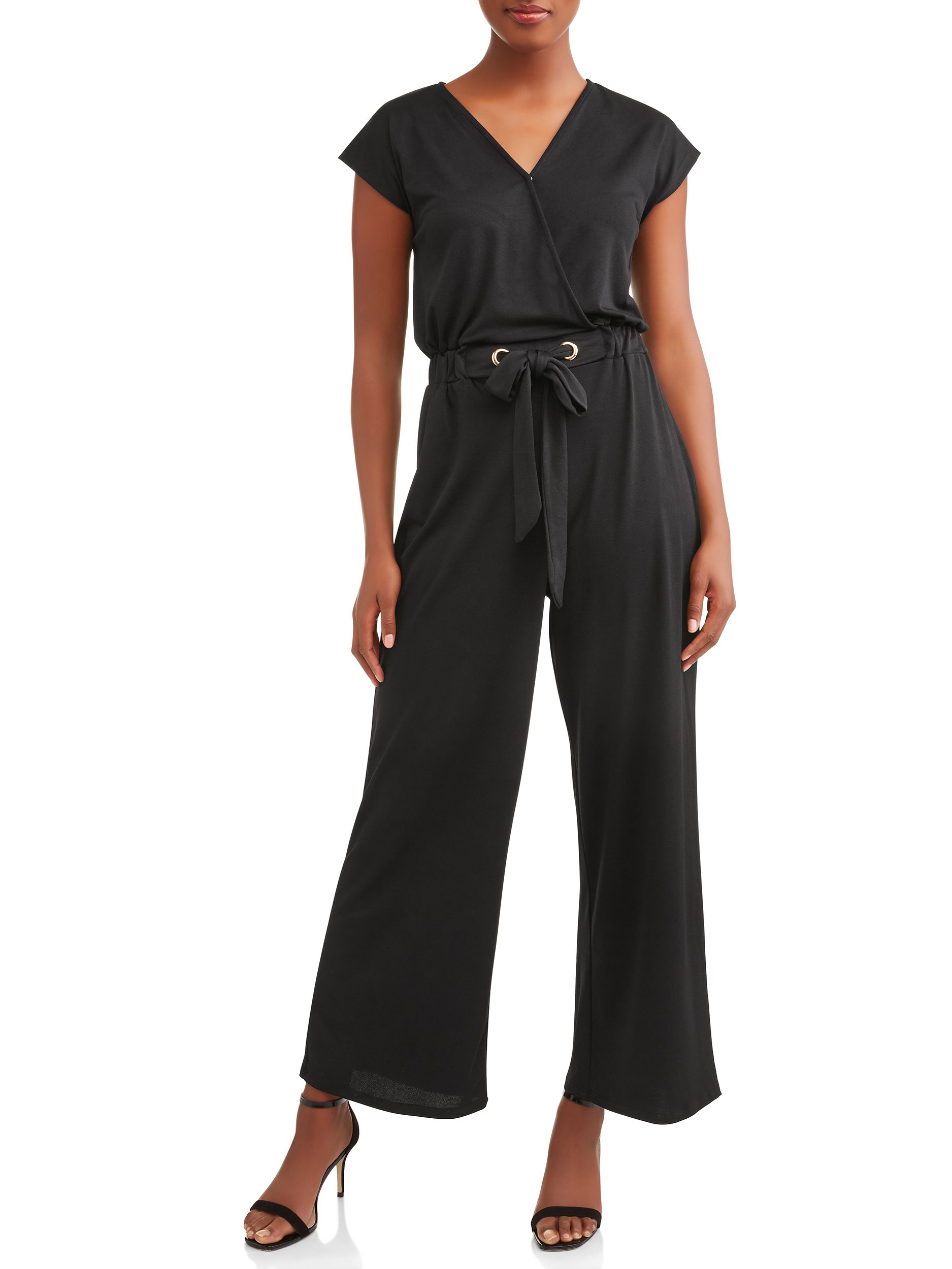 Women's Dolman Sleeve Surplice Jumpsuit