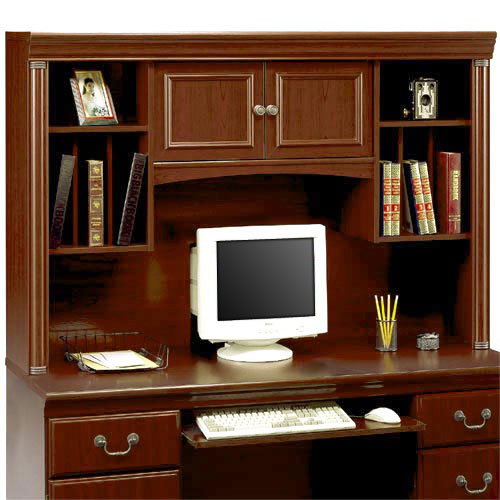 "Bush Birmingham  Hutch for 60""  Executive Computer Desk, Harvest Cherry"