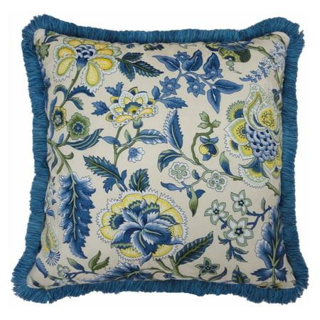 Imperial Dress Garden Path Striped Fringe Decorative Pillow