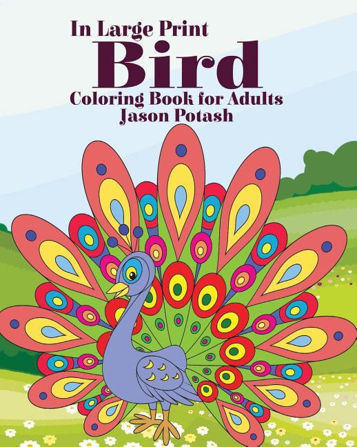 Bird Coloring Book For Adults ( In Large Print) (Paperback) - Walmart.com -  Walmart.com