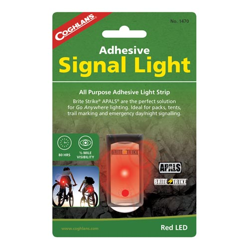 Coghlans Adhesive Signal Light, Red