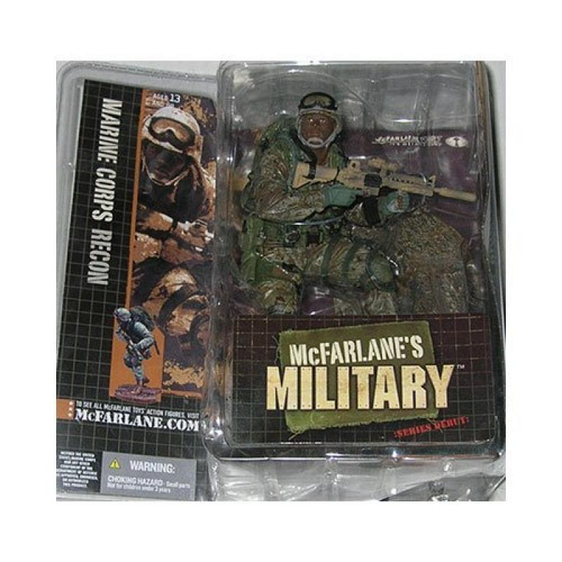 McFarlanes Military Series 1 Marine Corps Recon (African American) Action Figure by