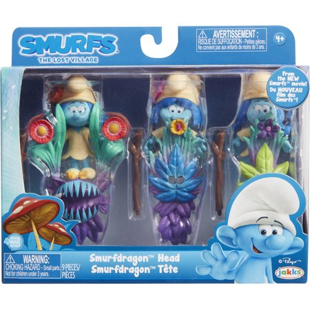 Jakks Pacific Smurfs  The Lost Village Smurfdragon Head  Multi Pack