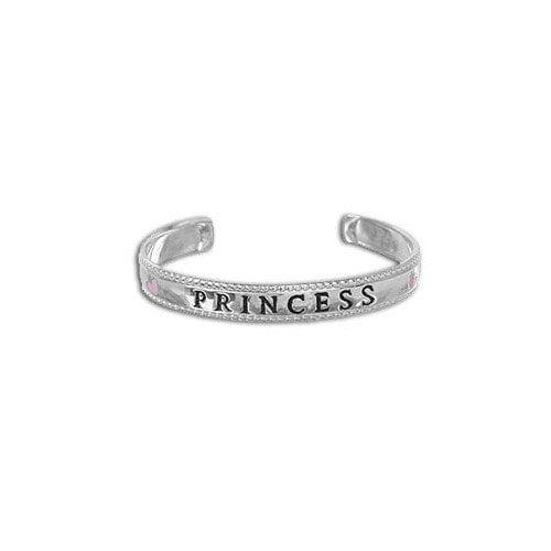 Sterling Essentials Sterling Silver 'Princess' Adjustable Baby Cuff Bracelet