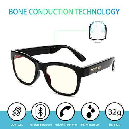 Bluetooth Headphones Wireless Stealth Headphone Glasses Sunglasses Bone Conduction Waterproof Intelligent Songs Artifact 6 (Oliver Bonas Sunglasses)