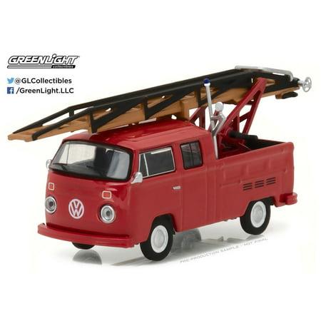 Greenlight 1:64 Club V-Dub 5 1976 VW Type 2 Double Cab Pickup Ladder Truck 1976 Eisenhower Dollar Type