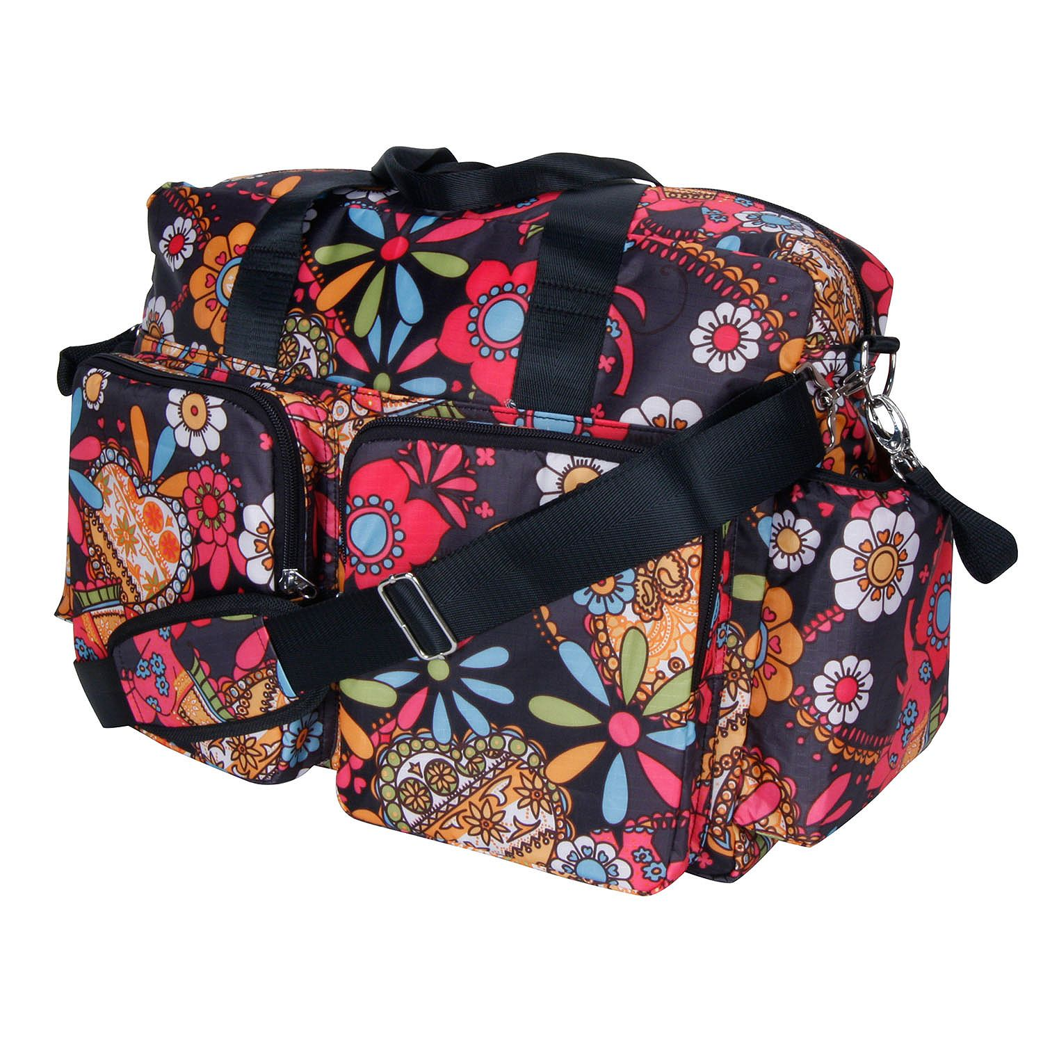 A Product of Trend Lab Deluxe Duffle Diaper Bag, Bohemian Floral [Skin Soft, Comfortable and Good Sleep Diapers](Babys Best Choice)