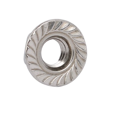 """8pcs 5/16""""-18 UNC Thread 304 Stainless Steel Hex Serrated Flange Nut Fastener - image 1 of 4"""