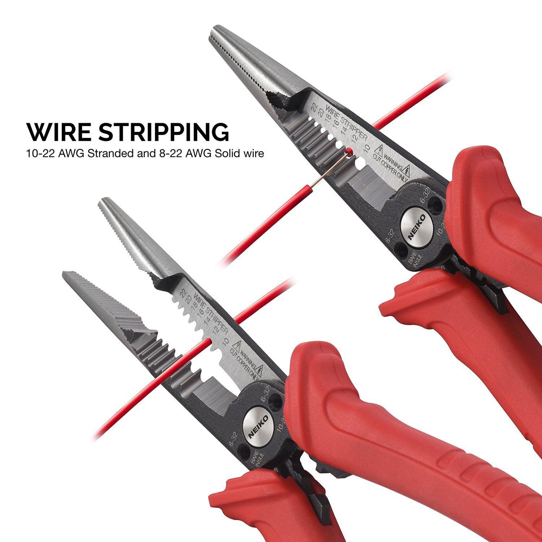 02038A 6-in-1 Wire Service Tool | Gripper Crimper Stripper Cutter 7 ...