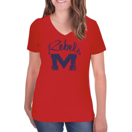 Ole Miss Salt (NCAA Ole Miss Rebels Women's V-Neck Tunic Cotton Tee)