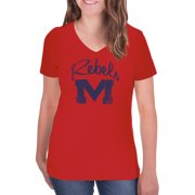 d653245f2ae NCAA Ole Miss Rebels Women's V-Neck Tunic Cotton Tee Shirt