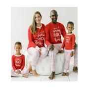 Sleepyheads Family Matching Red Fairisle Pajama Sets