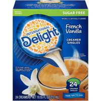International Delight Sugar Free French Vanilla Creamers, 24 Ct (4 Pack)