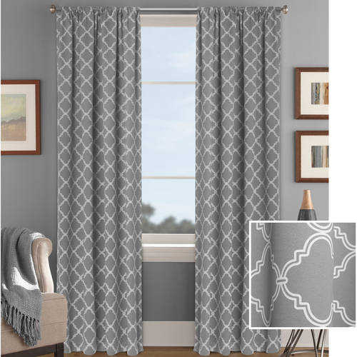 Better Homes and Gardens Trellis Room Darkening Curtain Panel by Colordrift LLC
