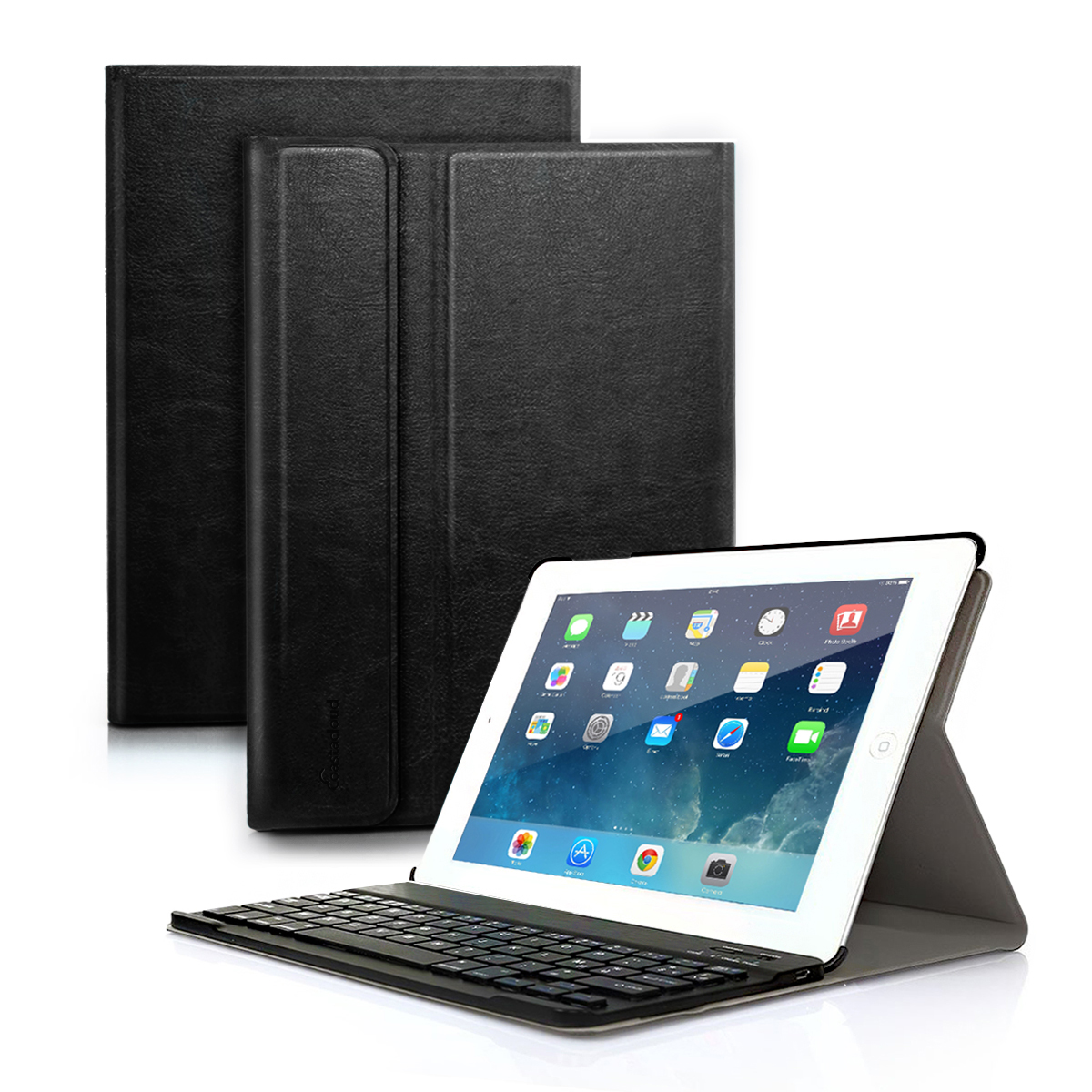 iPad mini 1/2/3 Keyboard Case PU Leather Folio Stand Cover with Detachable Wireless Bluetooth Keyboard for iPad mini3/iPad mini 2/iPad mini 1