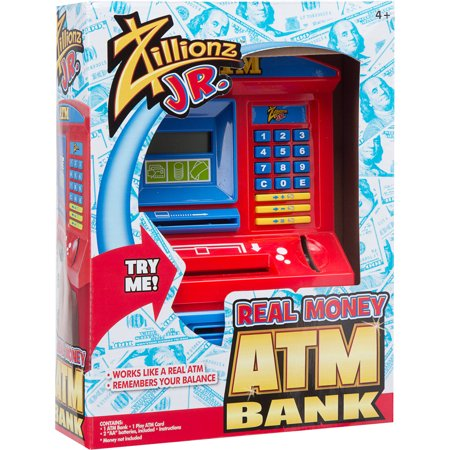 Zillionz Jr. Real Money ATM Bank