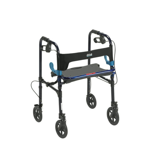 Drive Medical Clever Lite Walker Rollator  Adult  8   Wheels  Flame Blue