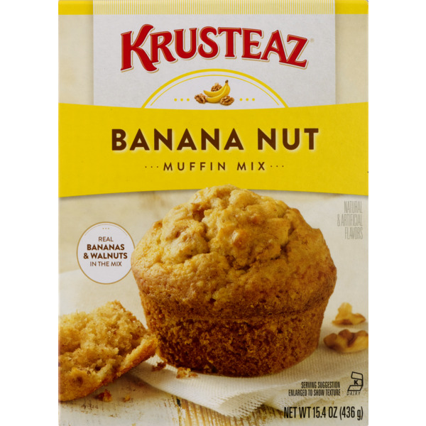 Krusteaz Banana Nut Supreme Muffin Mix, 15.4 oz Box