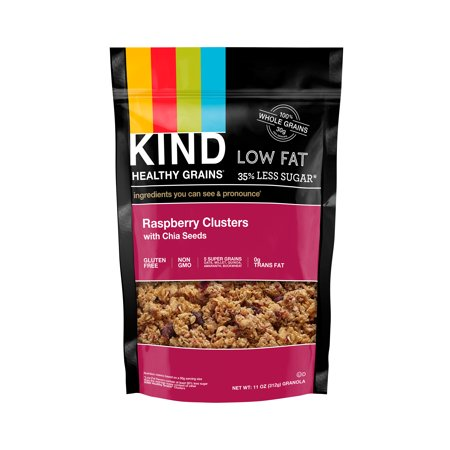 Kind Granola Clusters  Raspberry Clusters With Chia Seeds  11 Oz Pouch  Gluten Free  Healthy Grains Clusters