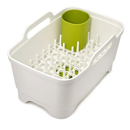 (Joseph Joseph Wash&Drain Plus, Washing Up Bowl with Dish Drainer - White/Green)