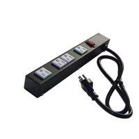 e-dustry EPS-1043N 12 in. 4 Outlet Metal Power Strip