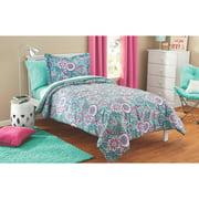 mainstays kids floral medallion bed in a bag complete bedding set - Toddler Boy Sheets
