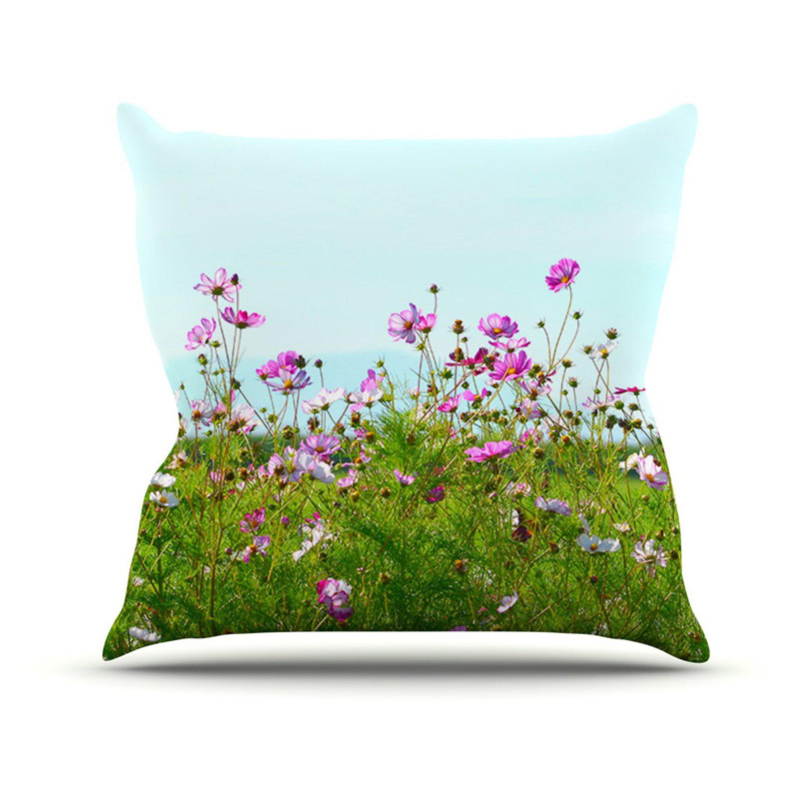 Kess InHouse Robin Dickinson I Choose Magic Flowers Indoor/Outdoor Throw Pillow