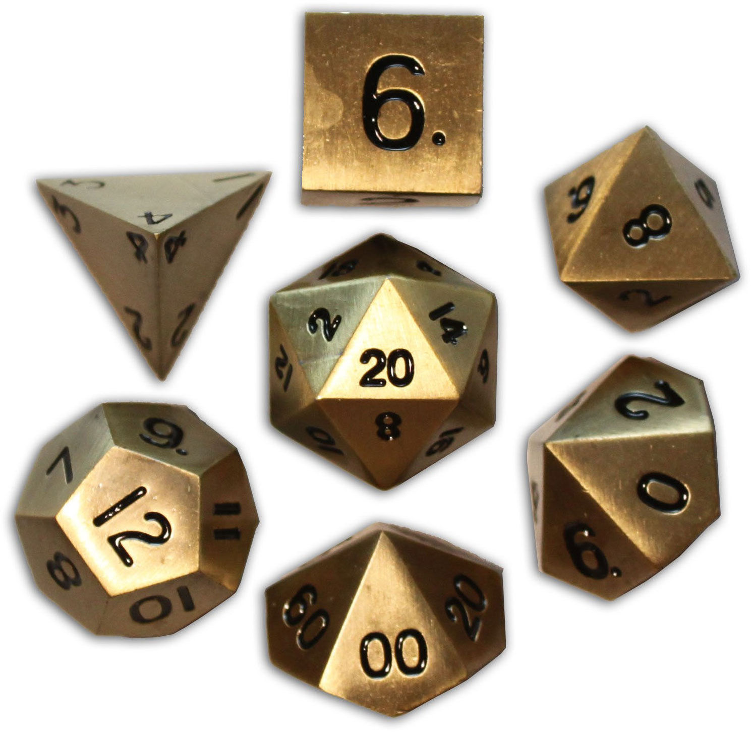 Norse Foundry 7PC RPG Metal Dice Set - Bronze Dragon Scale