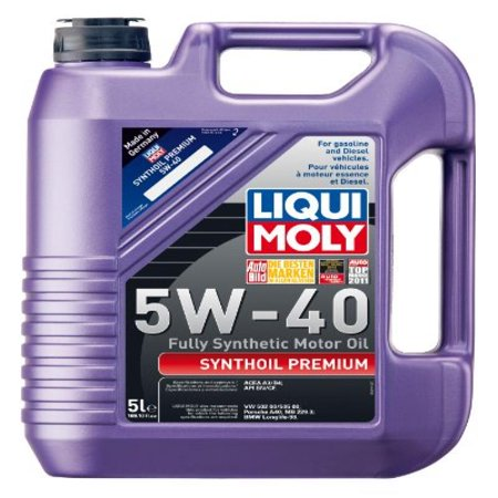 liqui moly 2041 premium 5w 40 synthetic motor oil 5 liter jug. Black Bedroom Furniture Sets. Home Design Ideas