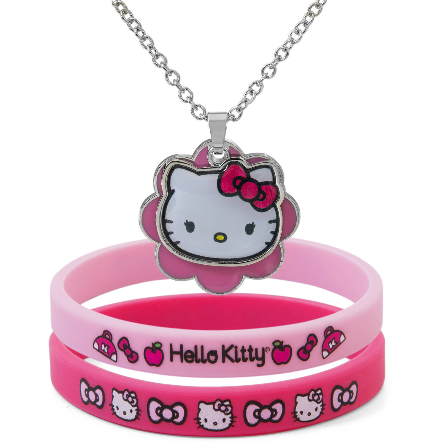 Hello Kitty Pendant and Bracelet Set