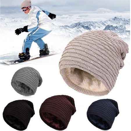 Vbiger Men Warm Knitted Hat Winter Slouchy Beanie Skull Slouch Cap for Men, Wine Red](Wizard Hats For Sale)