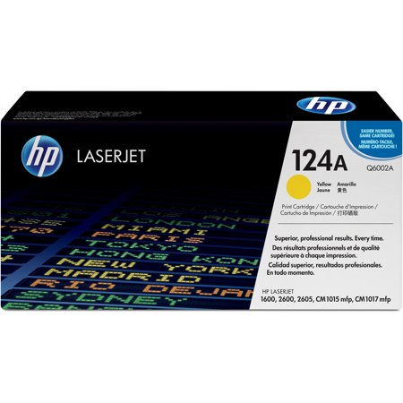 HP, HEWQ6002A, 124A LaserJet Toner Cartridges, 1 Each