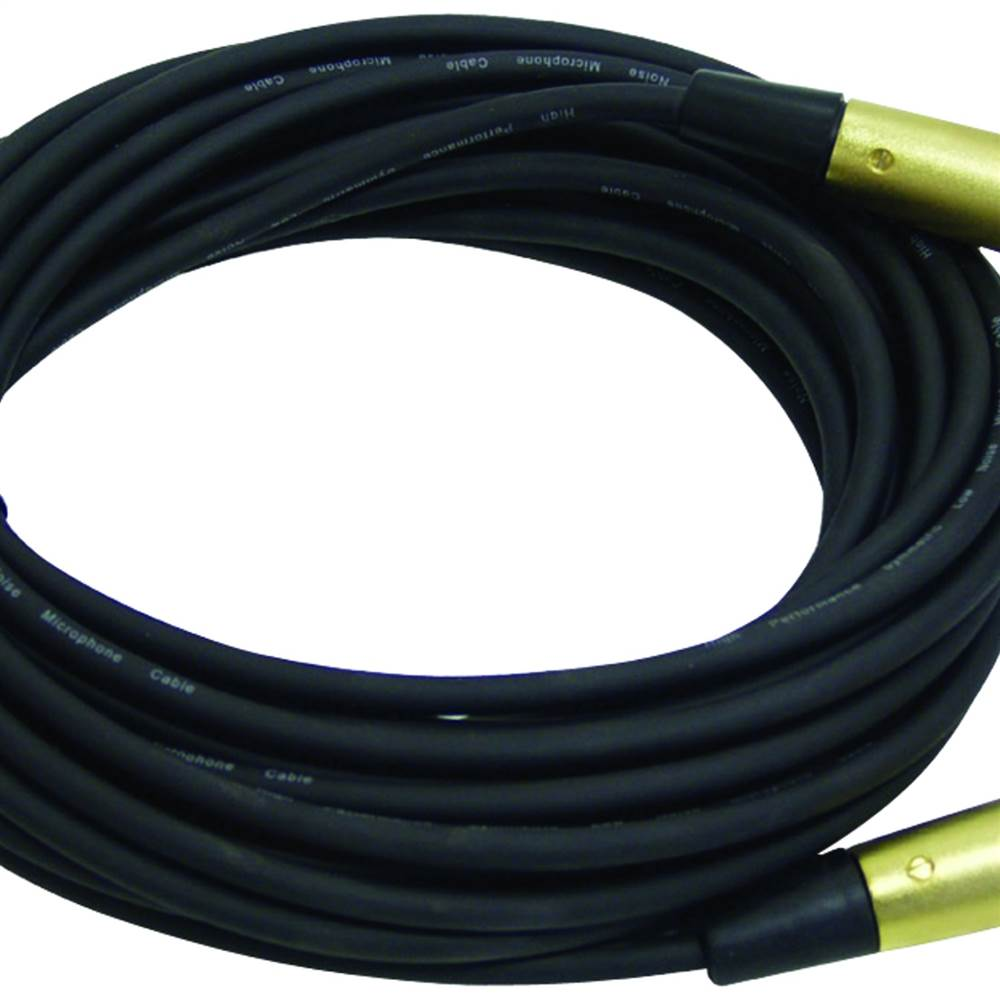XLR Microphone Cable, 30ft (XLR female - male symmetric)