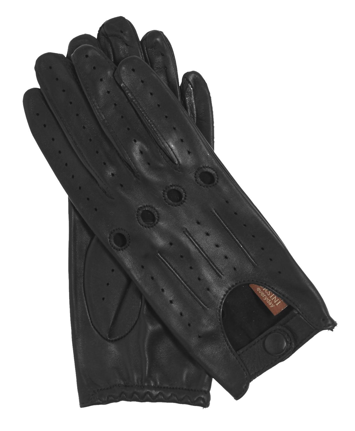 Shorty leather driving gloves fingerless - Fratelli Orsini Everyday Women S Open Back Leather Driving Gloves