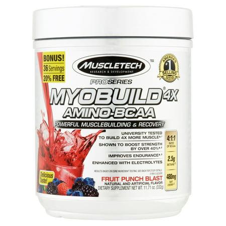 Série Pro Myobuild amino-BCAA 4X Fruit Punch souffle Dietary Supplement 1171 oz