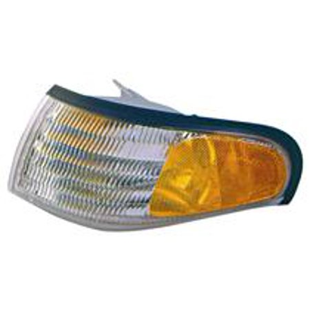 Go-Parts OE Replacement for 1994 - 1998 Ford Mustang Corner Light Assembly / Lens Cover - Left (Driver) F4ZZ 13201 A FO2520125 Replacement For Ford Mustang ()