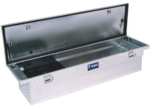 UWS TBS-69-SL-LP-BLK Black Single Lid Slim Line Aluminum Low Profile Toolbox with Beveled Insulated Lid