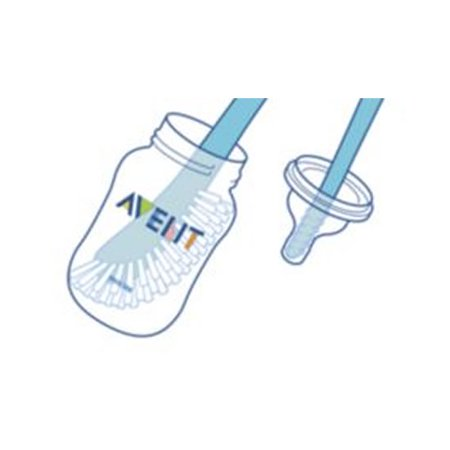 Philips Avent Pink Baby Bottle and Nipple Brush, BPA-Free