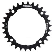Eclypse, Glide-Pro Stick Em 104, 34T, 9-11sp, BCD: 104mm, 4 Bolt Outer Chainring, Alloy, Black