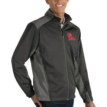 Ole Miss Rebels Antigua Revolve Full-Zip Jacket - Charcoal