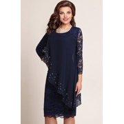 Women Elegant Long Sleeve Lace Dress Fashion Spring Autumn Knee Length Formal Dress Mother Of Bride Dress Evening Dress