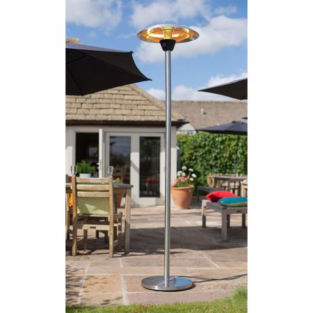 Hanover Electric Halogen Infrared Stand Heat Lamp, Silver