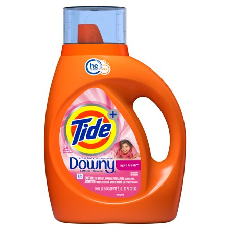 Tide plus Downy, Liquid Laundry Detergent, April Fresh, 24 Loads 37 fl oz