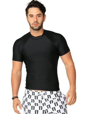 Ingear Rash Guard UV Sun Protection Basic Short Sleeve Sport Beach Surf Shirt