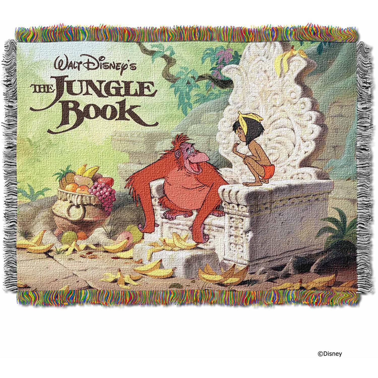 """Disney The Jungle Book """"King Louie"""" 48"""" x 60"""" Woven Tapestry Throw"""