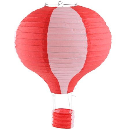 Paper Lightless Hanging DIY Decor Hot Air Balloon Lantern Red White 16 Inch Dia](Balloon Lanterns)