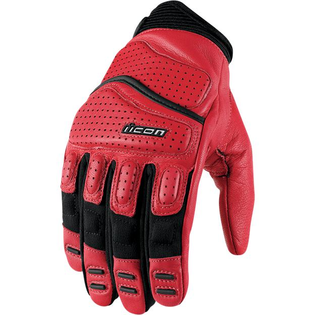 Icon Superduty 2 Leather Gloves Red XL  3301-1370