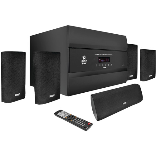 Pyle Pro PT678HBA 5.1-Channel, 400-Watt HDMI Home Theater System with Bluetooth by Pyle